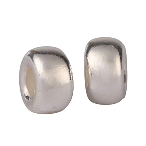 (10pcs Genuine .925 Sterling Silver Bubble Spacer 8mm Large Hole beads (~3mm hole) #ss50)
