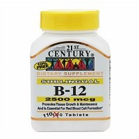 (21st Century Century B-12 2500 Mcg Sublingual Tablets 110 ea (Pack of 2))