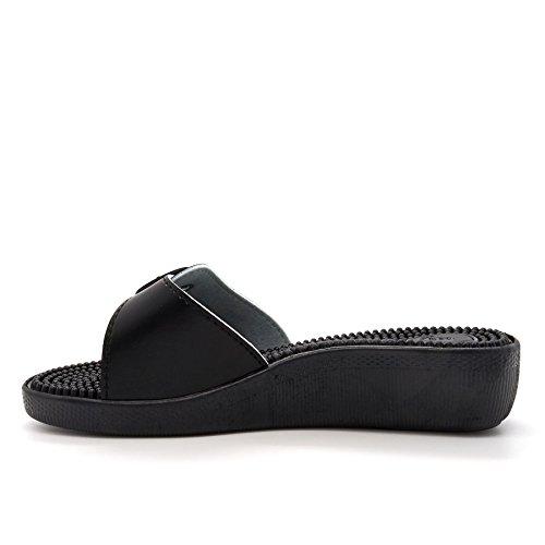 à Noir Ouvertes femme Noir London l'arrière Footwear z7aYEn