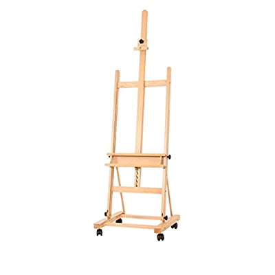 Large Oil Painting Easel Floor Display Stand Beech Easel Wooden Easel Sketch Country Easel