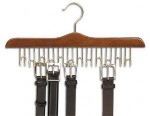 Only Hangers Walnut & Brass Wooden Belt Hanger ()