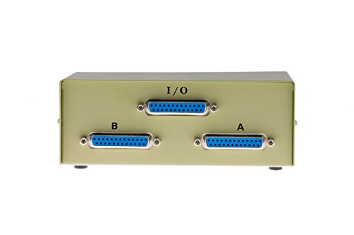 2 to 1 Parallel Printer Switchbox with DB25 Female Ports,
