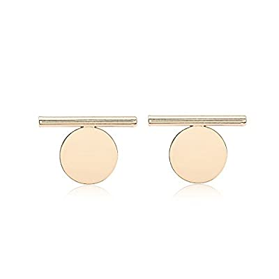 RENYZ.ZKHN Long Earrings All-Match Small Fresh Earrings Geometric Elements Long Ball Wafer All-Match Alloy Earrings, Earrings Earrings Small Fresh, Small Fresh