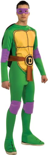 Nickelodeon TMNT Adult Donatello and Accessories, Green, Standard Costume -