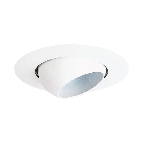 Juno Lighting 4in Trim - Juno Lighting 18-WH 4-Inch Mini Eyeball Recessed Trim, White