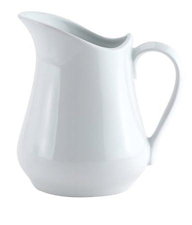 Amazon.com: 4 ounce jarra de leche jarra de porcelana blanca ...