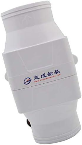 perfk マリンボートビルジ 静かな エアーブロワー 換気扇 24V DC 4インチホース インライン ABSプラスチック製 rv白