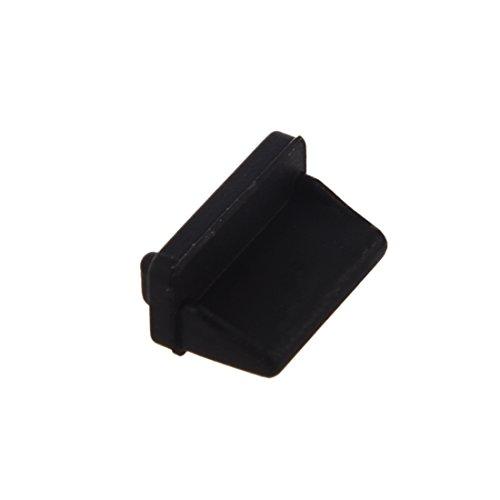 dustproof plug - SODIAL(R) 10 pcs Silicone USB port plug dustproof plug stopper protection cap black by SODIAL(R) (Image #4)