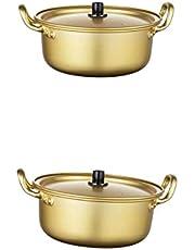 MERIGLARE 2 stycken/storlekar Korea aluminium instant nudelgryta ramyun cooker snabb kylning