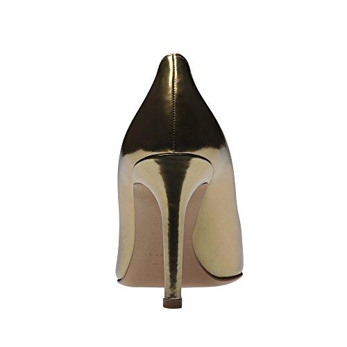 Pennello Ilaria 34 Scarpe Donne Oro Cuoio Di FzqInxz1