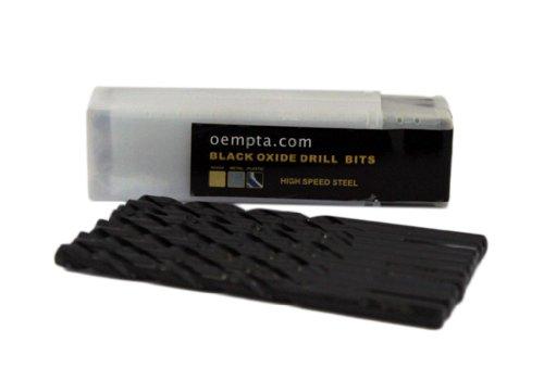 1/8-Inch Drill Bit, Black Oxide Jobber Length, 10 Pack