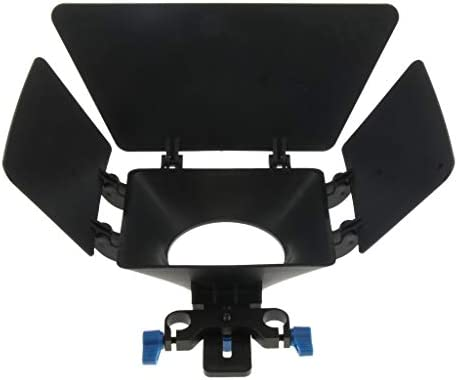 P Prettyia Swing-Away Matte Box Sunshade DSLR Video Rig With 15mm Rod Rig For Rail Rod Baseplate Rig、for Nikon Canon Sony Sony DSLR Cameras