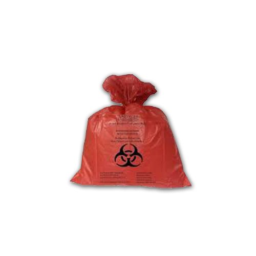 Medegen Medical Products 5012.1 Red Autoclavable Bag, 2.0 mil Gauge, 14