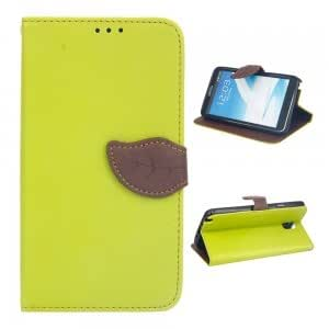 PU Leather Protective Case with Leaf-shaped Buckle for Samsung Note3 Green