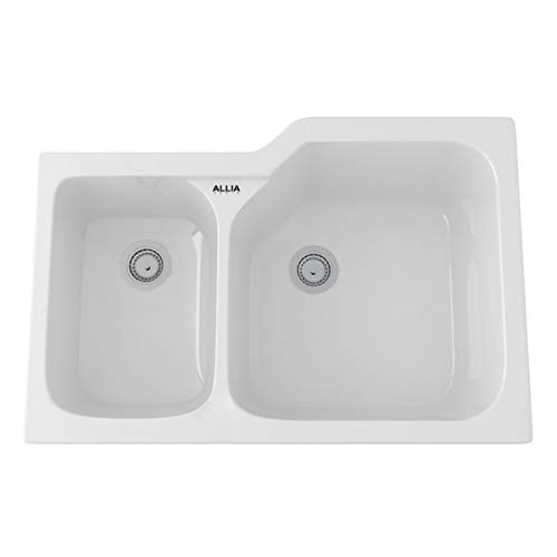 (Rohl 6339-00 FIRECLAY KITCHEN SINKS White (00))