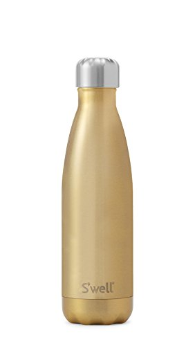 S'well Vacuum Insulated Stainless Steel Water Bottle, Double Wall, 17 oz, Sparkling (Glitter Champagne Bottles)