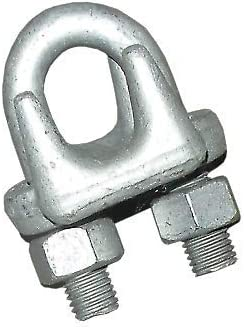 "(25-Pack) 5/16"" Drop Forged Heavy Duty Galvanized Wire Rope Clips (25-Pack) 31pumGI08CL"