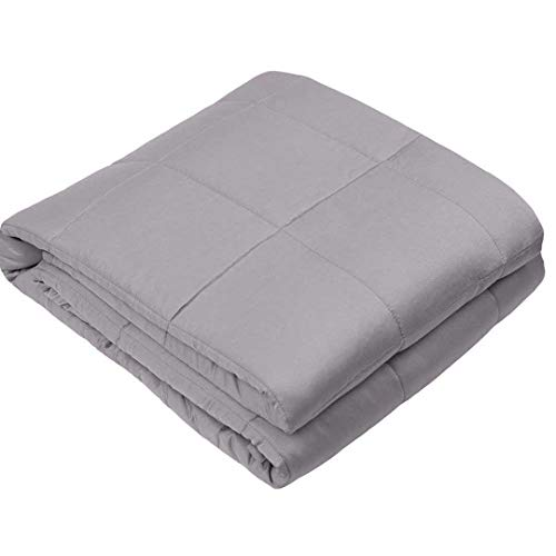 Cheap LANNOMO Cooling Weighted Blanket 30 lbs for 130-170 lbs Couple Adult   Chilled Natural Bamboo Viscose Cool Heavy Blanket with Glass Beads   Grey-30 lbs-80