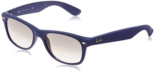 Ray-Ban NEW WAYFARER - LIGHT BLUE RUBBER Frame CRYSTAL GREY GRADIENT Lenses 52mm Non-Polarized by Ray-Ban