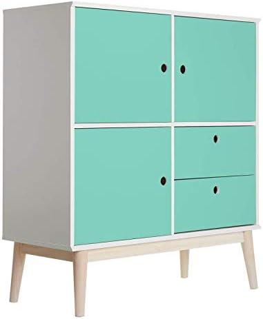 Lámina adhesiva para muebles, color verde turquesa, de PVC, para armarios, puertas, estanterías: Amazon.es: Bricolaje y herramientas