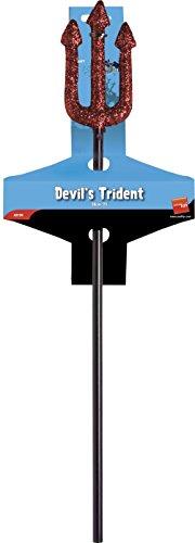 58cm Red Glitter Devils Trident