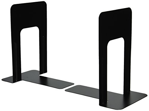 Officemate Bookends, 9 Inches, Non-Skid Base, Black, Pair (93051)