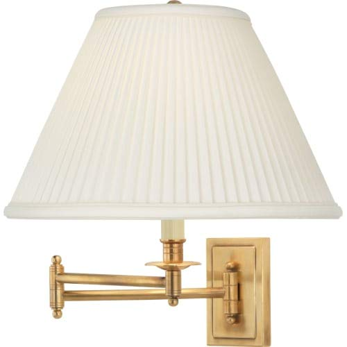 Arm Kinetic Swing (Robert Abbey 1504 Kinetic - One Light Wall/sconce, Antique Brass Finish with Natural Fabric Shade)