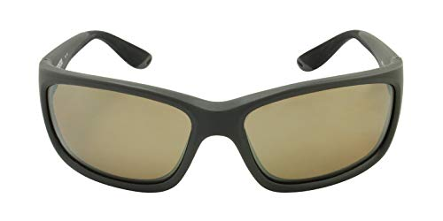 (Costa Del Mar Jose Sunglasses, Matte Gray, Silver Mirror 580 Glass Lens)