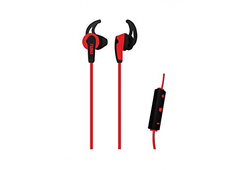 NAXA Electronics NE-937 RED Wireless Sport In-Ear Isolation Earphones with Bluetooth Red & Black (Boss Wireless Headphones With Mic)
