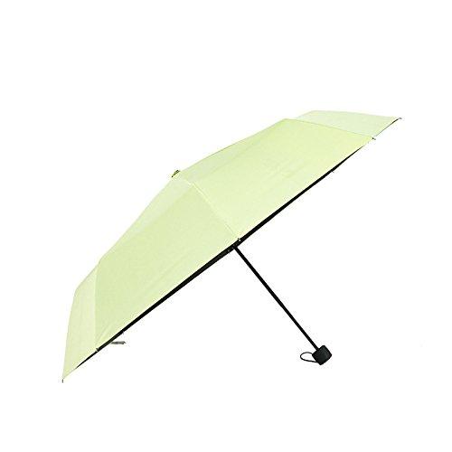 KHSKX Paraguas Plegable De Corea, Pegamento Negro Paraguas, Anti Paraguas De Sol, Anti Paraguas, - Ultravioleta Del Sol, Setenta Por Ciento De Paraguas, Paraguas,Verde ccc7d2