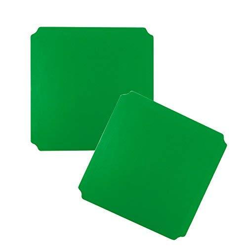 Moveandstic 2er Set Platte grün 40x40 cm TikTakToo
