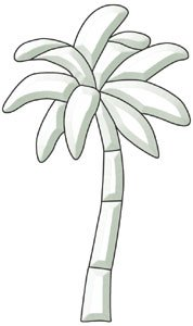 - Palm Tree Bevel Cluster