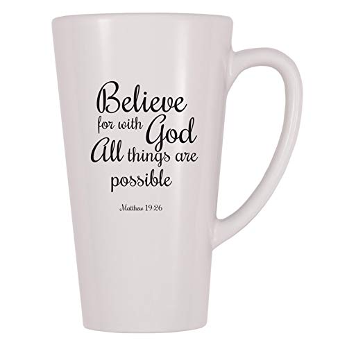 4 All Times Believe For With God All Things Are Possible Coffee Mug (17 oz)