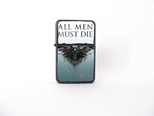 Game of Thrones lighter, TV show lighter, custom lighter, winter, GOT lighter, All Men Must Die, cool lighter, geeky lighter, groomsman gift