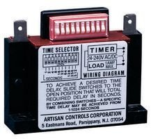 ARTISAN 438USA SOLID STATE TIMER 1NO 1024SEC, 288VAC/DC, RELAY MOUNTING:PANEL, LOAD CURRENT:1A, OPERATING VOLTAGE MIN:19V, OPERATING VOLTAGE MAX:288V, TIMER FUNCTIONS:DELAY-ON-MAKE, NOM INPUT VOLTAGE: