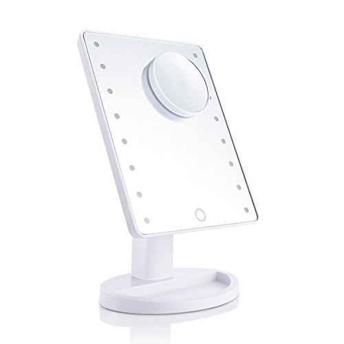 Uarter Lighted Makeup Mirrors Touch Screen 16 LEDs Square De