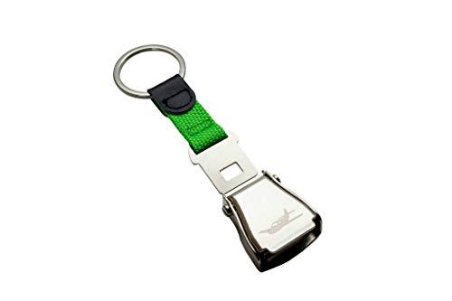 NOVAH Airplane Seat Belt Buckle Keychain (Green)