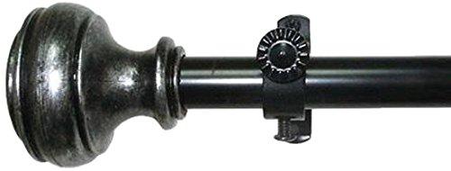 Achim Home Furnishings Buono II Rod & Finial, 28 Extends to 48-Inch, Bradford, Inch Inch