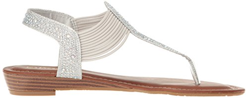 Glitter Wedge Sandal PAIRS Spark Silver Women DREAM qYU74n