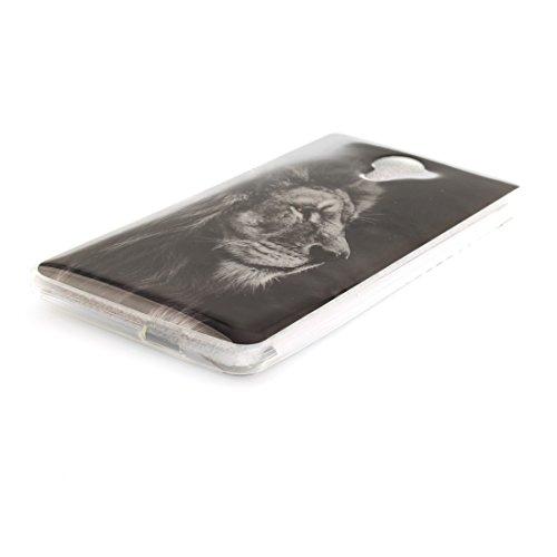 Téléphone Hozor Cas Arrière TPU Souple Silicone Bord Transparent lion Wiko De Couverture Robby Scratch Protection Slim Antichoc Cas Résistant Fit Motif De En Peint CUCqvr