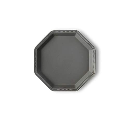 - Ceramic Dessert Plates Irregular Shape Western Steak Dinner Plate Pasta Household Scrub Geometric Plates,Gray
