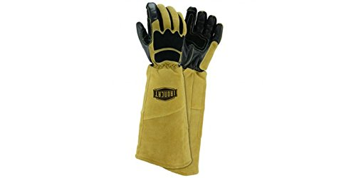West Chester Tan/Black 2XL Grain Cowhide Leather Welding Glove - Keystone Thumb - 9070/2XL [PRICE is per PAIR]