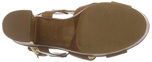 Buffalo London 315-3168-1 Paul Crust Leather, Sandali con Platea Donna Marrone (Braun (Camel))