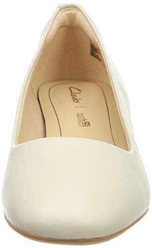 Con Alice Tacco Scarpe Orabella Clarks Leather Bianco Donna white Z5PTtqw