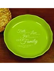 Abbey Press 129987 Pie Plate-Blooming Blessings