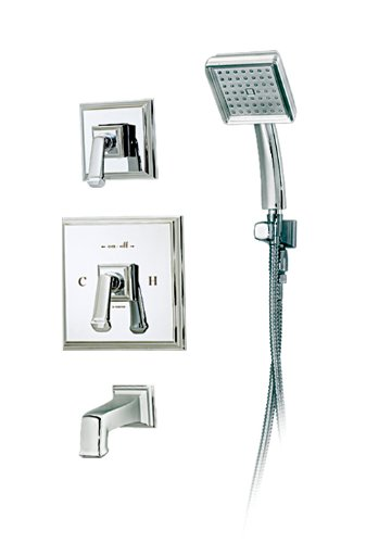 (Symmons 4204 Oxford Tub/Hand Shower System with Secondary Integral Diverter, Chrome)