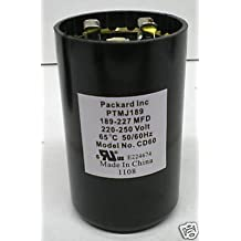 Room Air Conditioner Replacement Parts Packard PTMJ189 Motor Start Capacitor. 189-227 MFD UF / 220-250 VAC