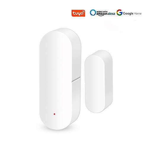 WiFi 2.4GHz Smart window door sensor Detector alarm Support Voice Control Compatible With Alexa Google Home for Smart…