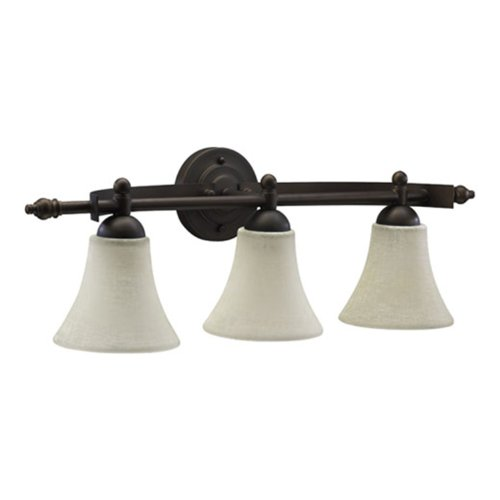 Oiled Bronze Three Light Bath - 9