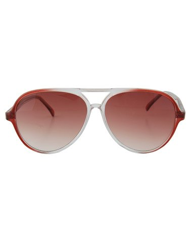 Flyboy Aviator Sunglasses Orange Clear/Ombre
